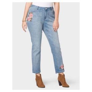 🌞 Westport Embroidered Skinny Ankle Jeans SZ 24W